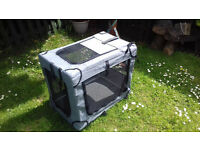 medium size fabric dog cage / crate / kennel, folds for easy travel