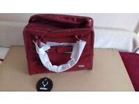 Antler deep red patent holdall/large handbag