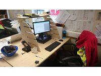 Birch Sit/Stand desk