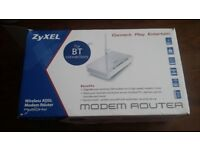 Zyxel adsl modem router for BT connections