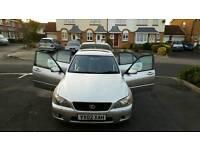Lexus IS, 2002 (02 Reg), 2l, 106,500 miles, Automatic, Petrol, 106,500 miles, MOT until Nov '17