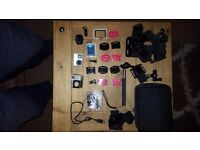 Go-Pro 4 Silver. Loads of accessories as pictured. Selling due to lack of use.