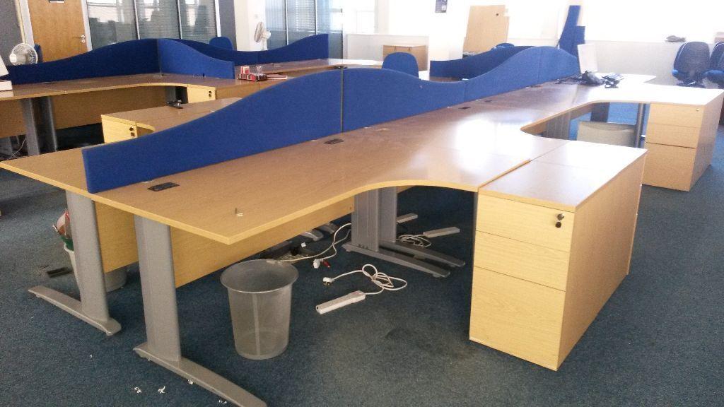 Corner Desks Radial Desks Desk Pods 1600mm X 1200mm