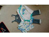 Fleece Dungarees and 2 long sleeve body tops. Brand new. Size 18-24 months