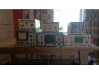 Oscilloscope x4 & long scale Galvanometer x2 scientific equipment joblot