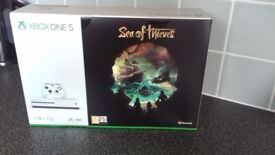 Brand new and sealed xbox one s sea of thieves package. 1tb storage. Collection only