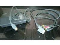 Xbox 360 Power Brick And Av Cable