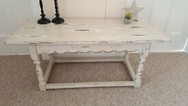 Shabby chic Solid Oak coffee table