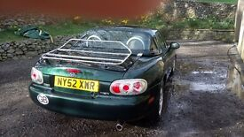 Mazda MX5 Montana for breaking or renovation. 1.8 engine, hard top, mohair soft top. Sold whole.