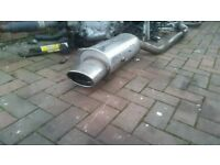 BMW e36 320 323 325i highgrade stainless sports exhaust back box silencer