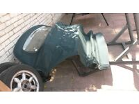 bmw e36 3 series soft top roof green
