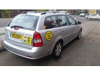 Chevrolet lacetti 1.8 LPG Conversion automatic leicester private hire taxi plated