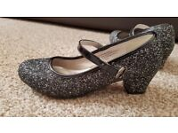 Girls sparkly shoes - good condition - size 1