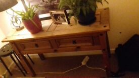 Mexican pine console/side table