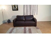 Ex-display Dante brown leather sofa bed