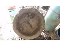round stone trough approx 18 inch circumference