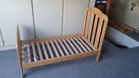 Mamas and Papas oak cot bed
