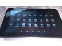 MIKONA 7'' ANDROID TABLET, FAULTY CHARGE PORT BUT DOES CHARGE UP. spares or repair tablet