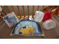 Baby Bundle, play mat, Milton steriliser, 3 brand new unused potties