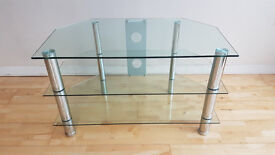 Glass TV Stand with 3 levels