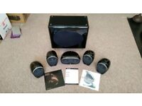 Tannoy Arena Surround Sound Speakers 5.1 system + IXOS gold subwoofer cable free