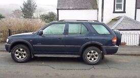 Vauxhall fronterra for sale mot until june £800