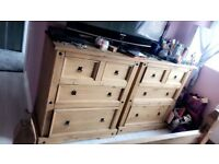 Bedroom furniture set and double bed