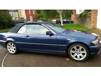 BMW 3SERIES COVERTIBLE AUTOMATIC LONG MOT SERVICE HISTORY CHEAP ON FUELLEATHER SEAT CD £1895ONO