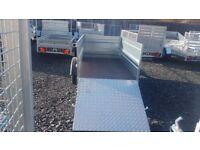 New Trailer car (6 x 4 x 2,17) double broadside and ramp - £750 inc vat