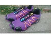 Salomon Speed Cross 3 Walking Shoes Trainers Women's Size 6 Purple New