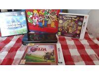 New Nintendo 3DS XL Metallic Black Bundle (inc. Case & 3 games)