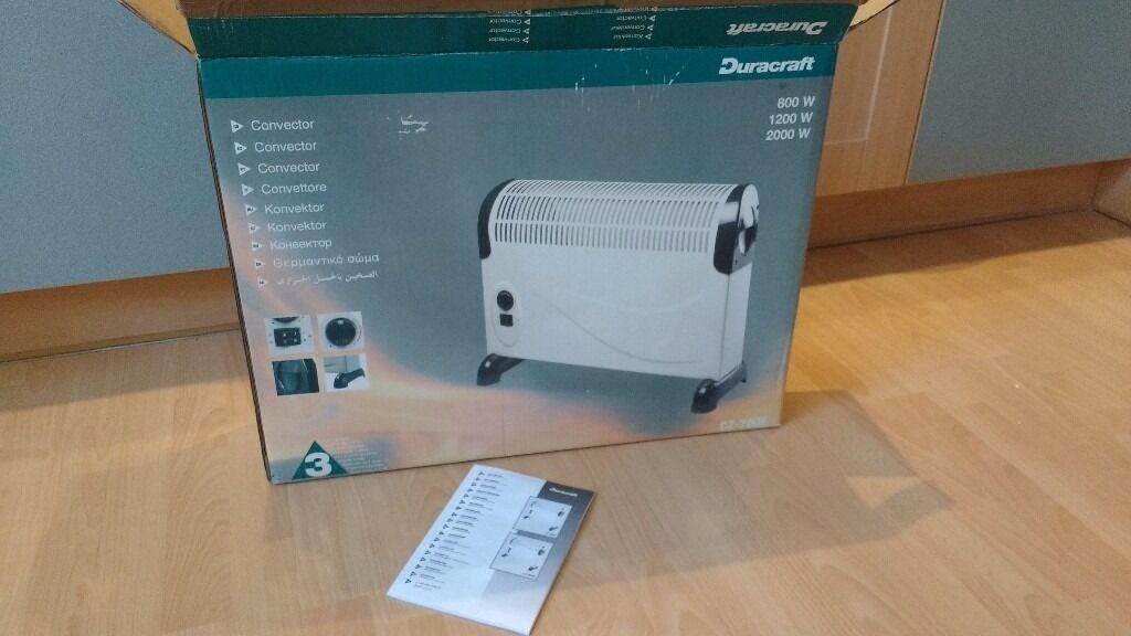 800W Convector Heaterin Kirkcaldy, FifeGumtree - 800W Duracraft Convector Heater, complete with box and instructions, in good condition