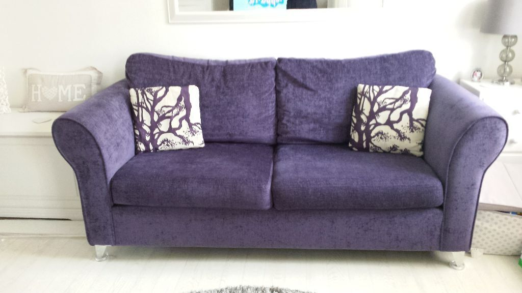 Dfs Purple 3 Seater Sofa Bed Armchair