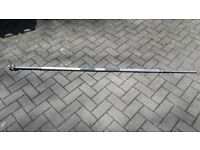 6.8FT SOLID CAST IRON CHROME WEIGHTS BARBELL - 1 Inch