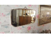 Vintage Mirror With Beveled Glass
