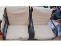 FREE 1 x 2 seater and 2 x 1 seater garden chairs/sofa Greenford