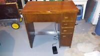 1943 Singer Sewing Machine with cabinet