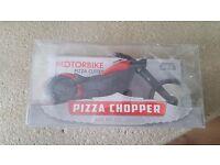 Motorbike pizza chopper