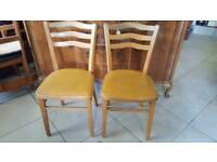 Pair Of Lovely Little Vintage Kitchen Chairs