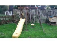 FREE Safe Kids outdoor playcentre swing & sldie