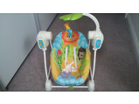 Fisher-Price Rain Forest Space Saver Swing and Seat