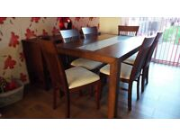 Julian Bowen Dinning Table and 6 Chairs