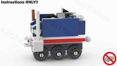 CUSTOM LEGO TRAIN MOC COAL TENDER for the POLYBAG set #30575 INSTRUCTIONS ONLY!
