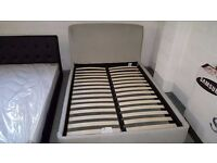 John Lewis Skye Grey Fabric DOUBLE Bed RRP £699 **CAN DELIVER**