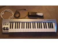 M-Audio KeyRig 49 Keyboard & M-gear pedal
