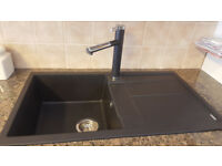 BLANCO METRA SILGRANITE 5S ANTHRACITE SINK WITH LINEE-S TAP - EX-SHOWROOM DISPLAY