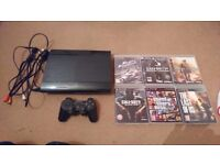 Playstation 3 supper slim 500Gb with 6 games God condition