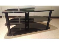 FREE! TV Stand, Black, 3-tier, Wood & Glass