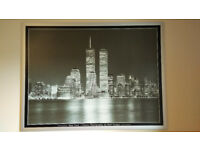 Framed Photograph of New York - Twin Towers