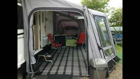 Awning and fitted carpet
